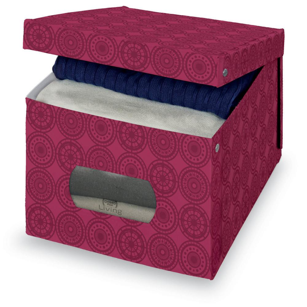 Fialový úložný box Domopak Ella, veľ. XL