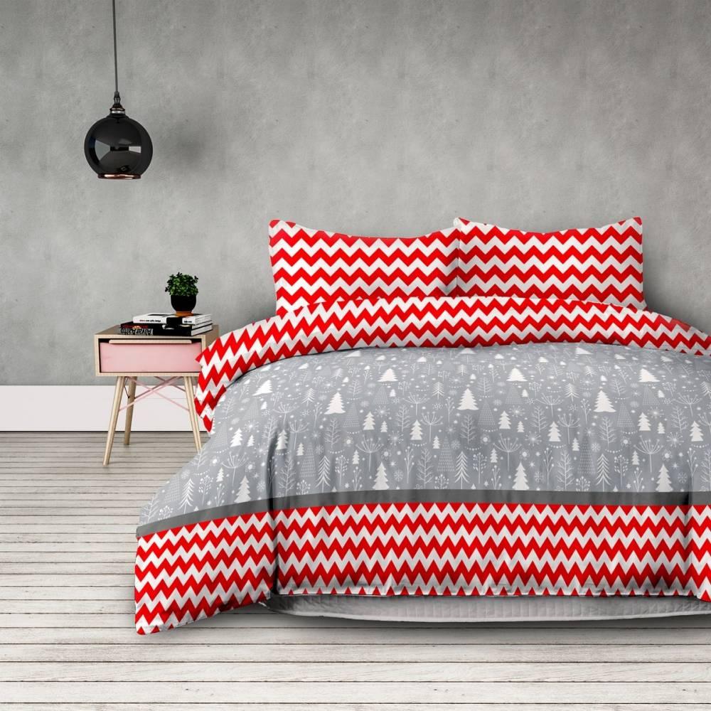 DecoKing Flanelové obliečky Christmas mess, 160 x 200 cm, 2 ks 70 x 80 cm