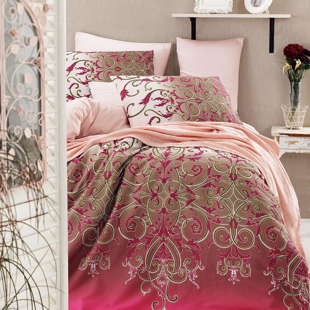 Obliečky s plachtou Vitaly Pink, 200x220cm