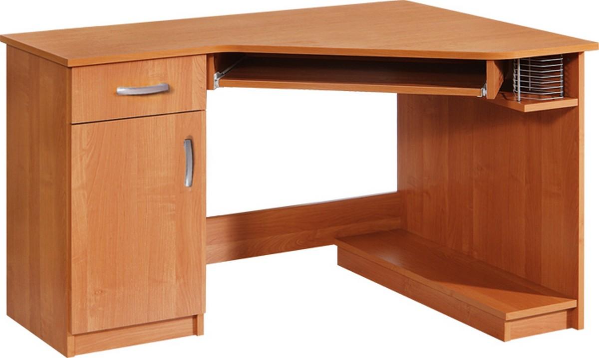 Rohový PC stolík Carmen (L)