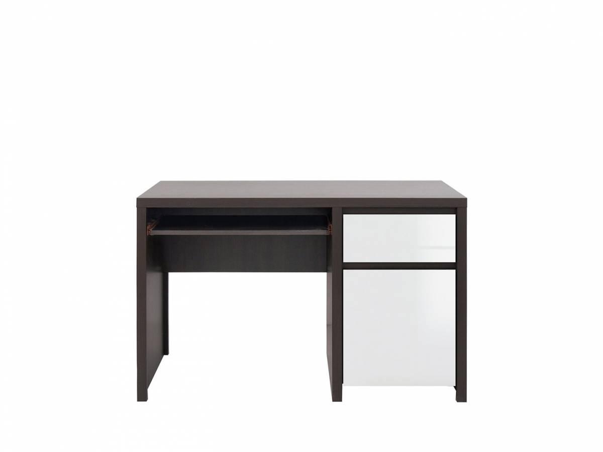 PC stolík Kaspian BIU1D1S/120 (wenge + lesk biely)