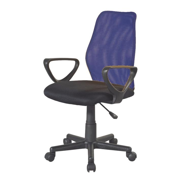 Kancelárska stolička BST 2010  TW 170 CIERNA/TW171 MODRA