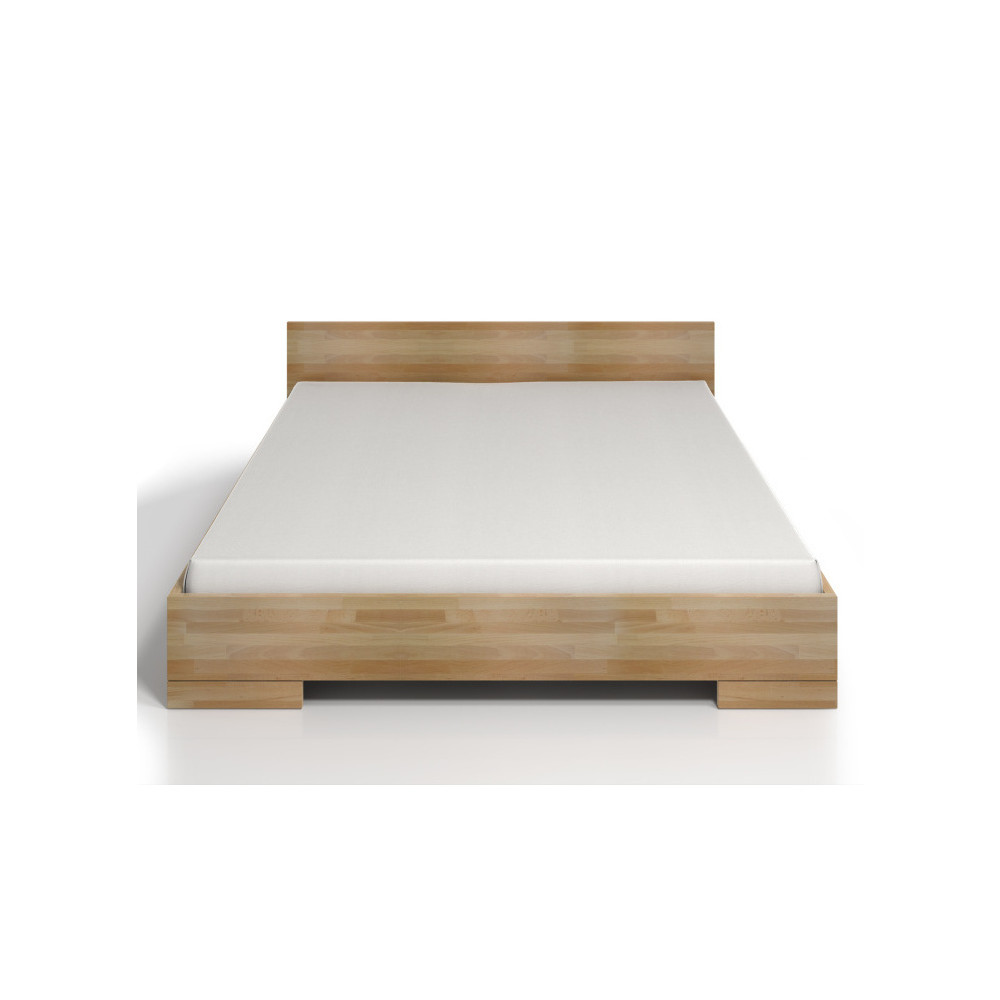 Dvojlôžková posteľ z bukového dreva s úložným priestorom SKANDICA Spectrum Maxi, 140x200cm