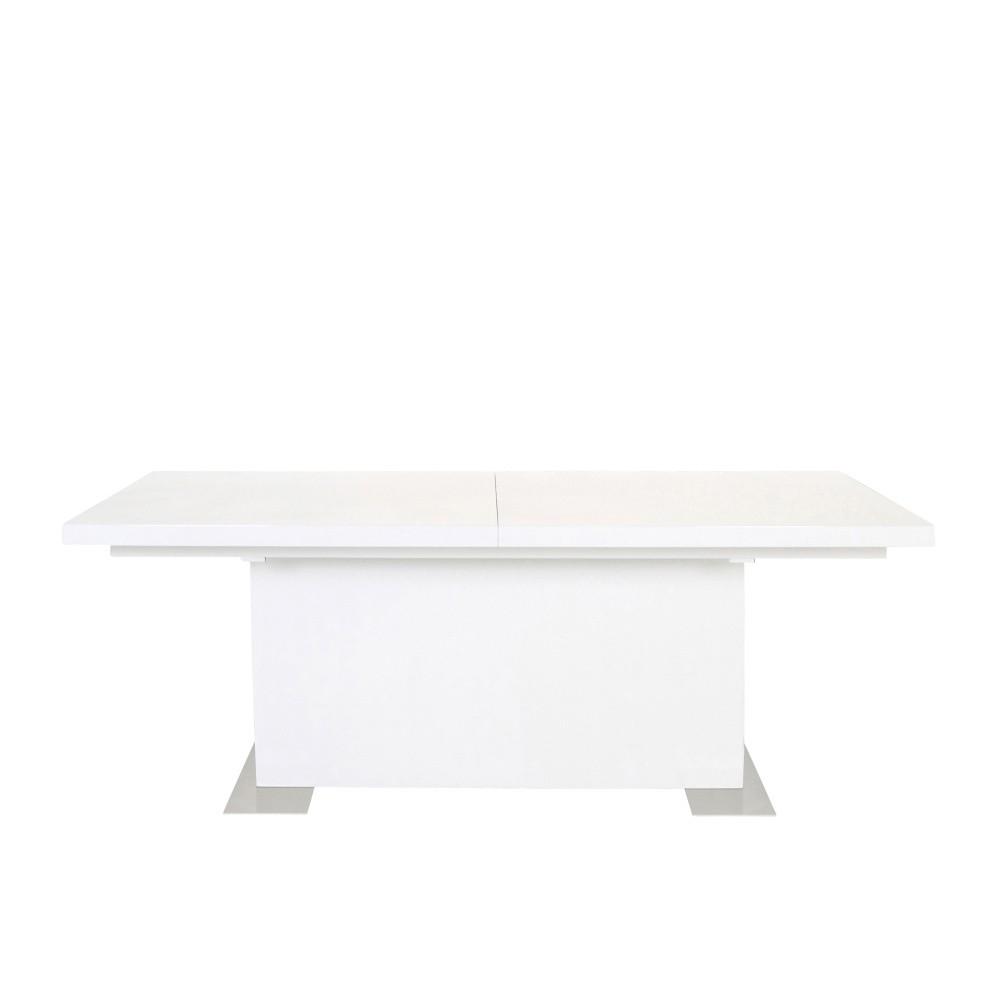Biely rozkladací jedálenský stôl Actona Brick, dĺžka 180 - 230 cm