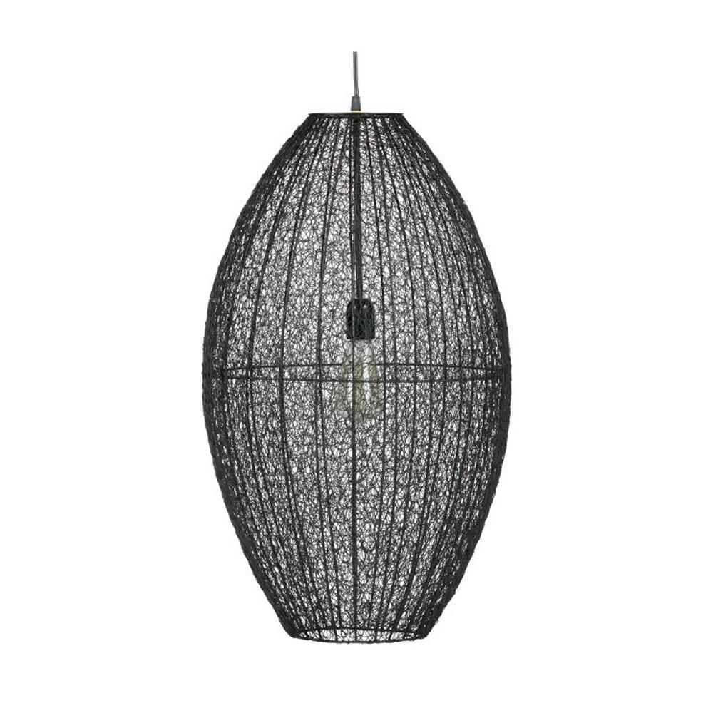 Čierne závesné svietidlo De Eekhoorn Creative, ⌀40cm