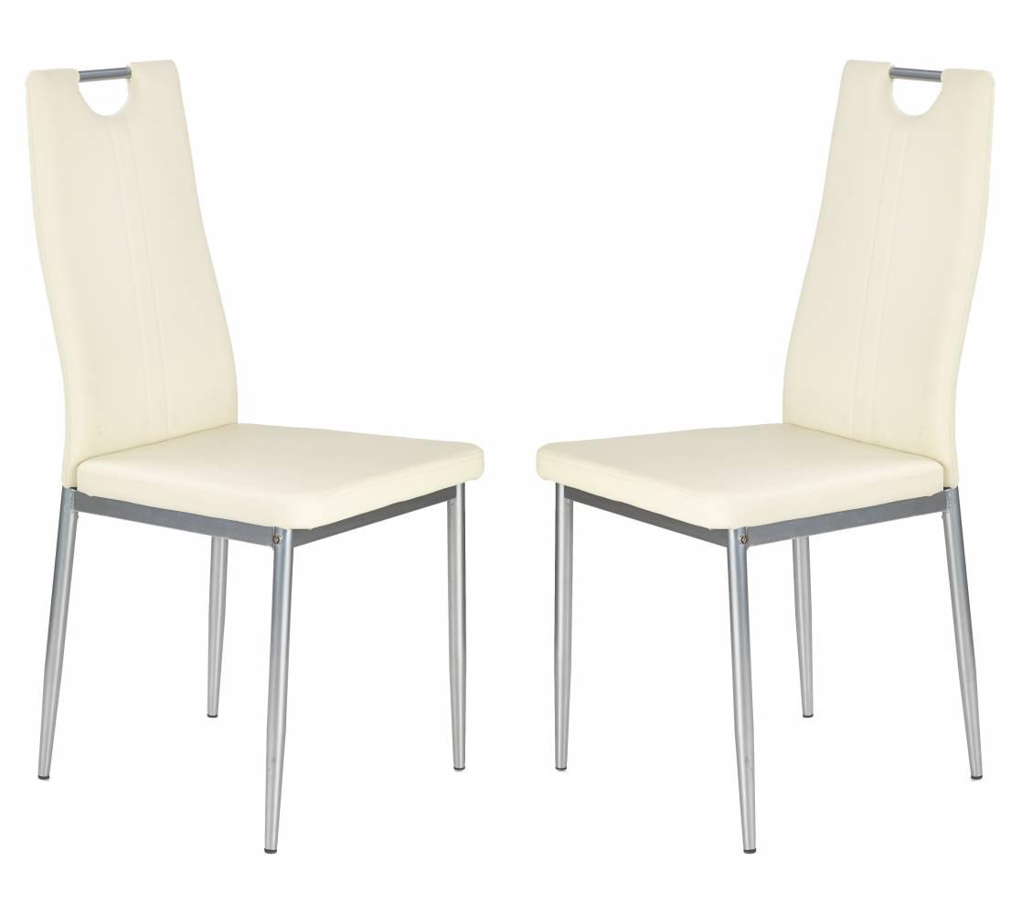 Set 2ks. jedálenských stoličiek K202 (krémová) *výpredaj