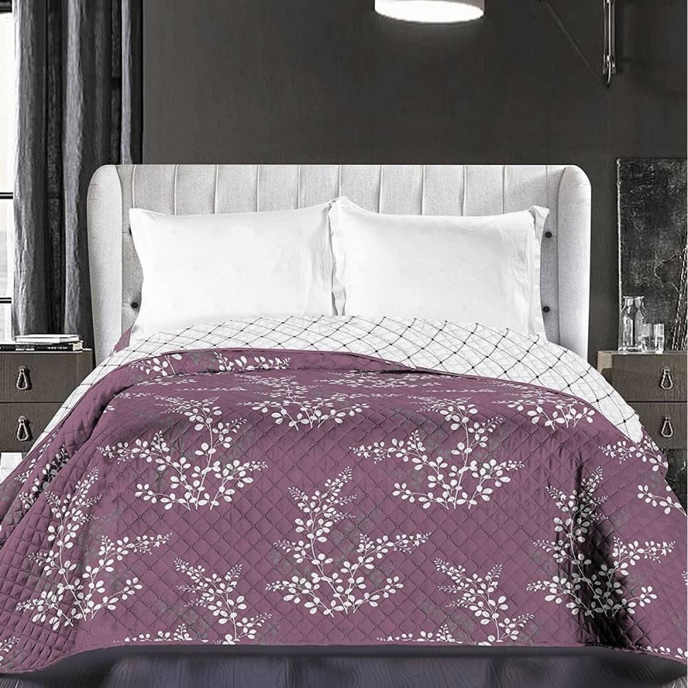 DecoKing Prehoz na posteľ Calluna fialová, 220 x 240 cm