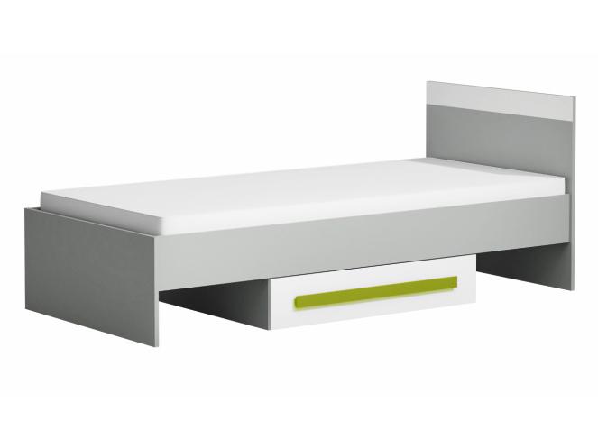 Jednolôžková posteľ 90 cm Piere P12 Zelená (s roštom)