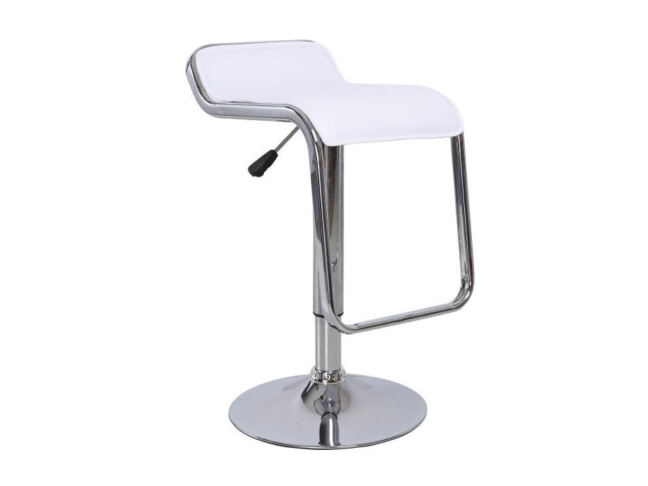Barová stolička Ilana (biela + chróm)