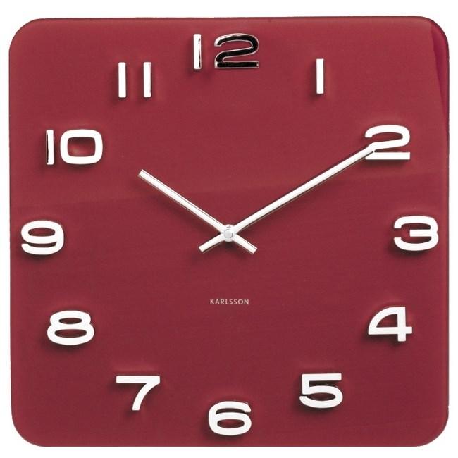 Karlsson 5641RD Designové nástenné hodiny, 35 cm