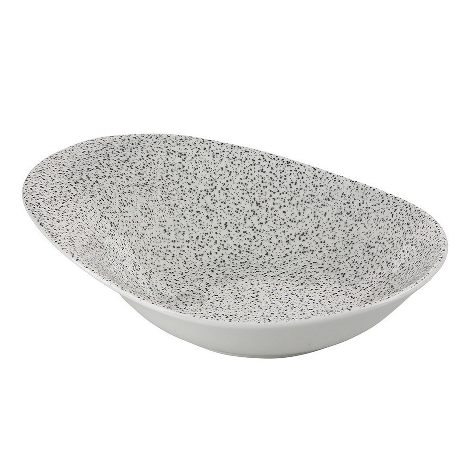 Altom Šalátová misa Granit 25,5 x 20 x 9,5 cm, biela
