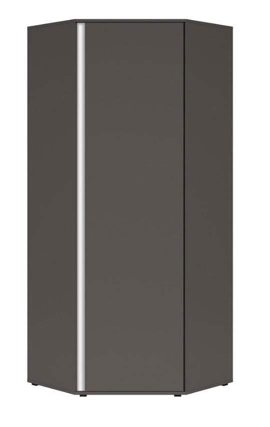 Šatníková skriňa rohová Graphic SZFN1D/C   Farba: sivý wolfram