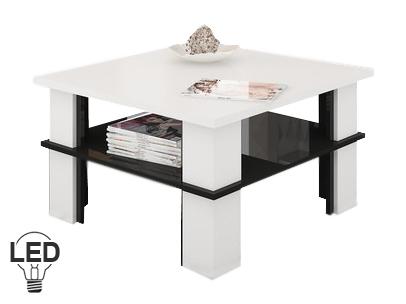 Konferenčný stolík Futura 1 (biela + lesk čierny)