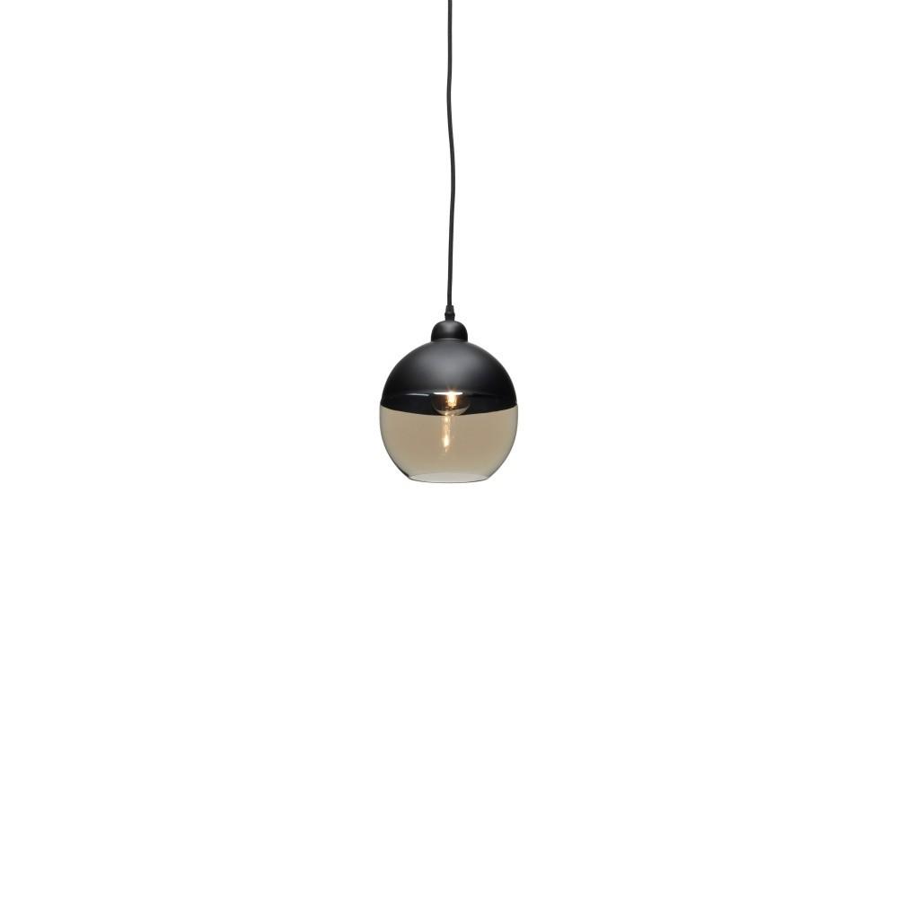 Čierne závesné svietidlo Design Twist Caracol Round