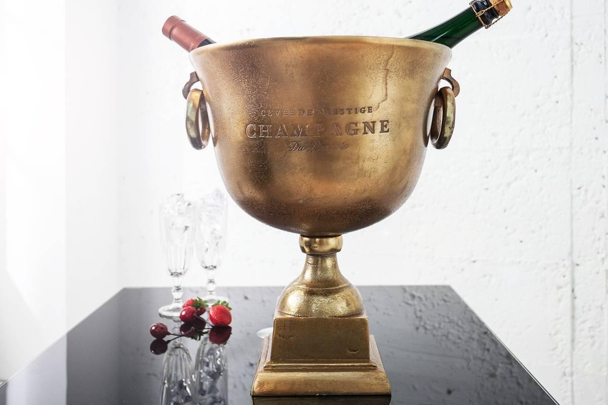 Bighome - Chladič na šampanské ROAL 40 cm - zlatá