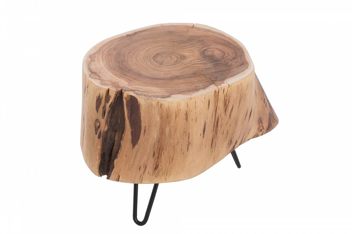 Bighome - Príručný stolík GOALA 35 cm - prírodná