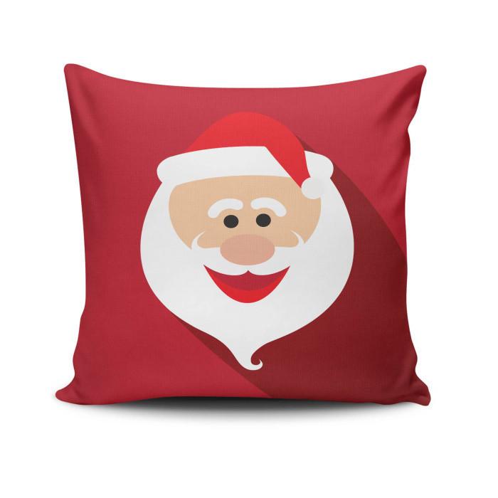 Vankúš Happy Santa Face, 45x45 cm