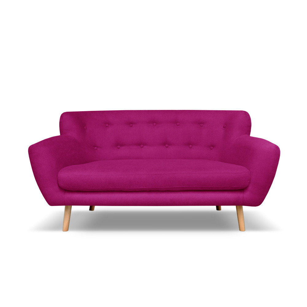Tmavoružová pohovka pre troch Cosmopolitan design London
