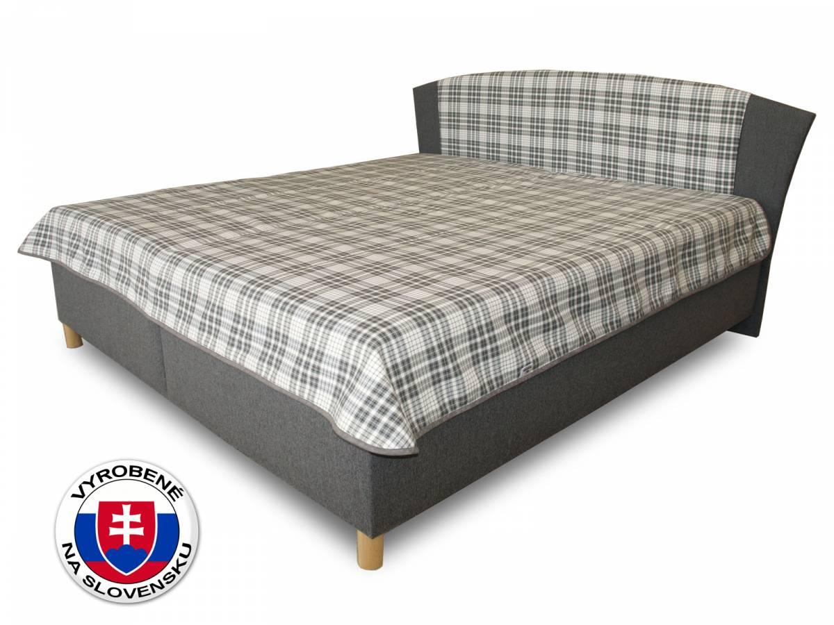 Manželská posteľ 180 cm Benab Tokio (s roštami, matracmi a prehozom)