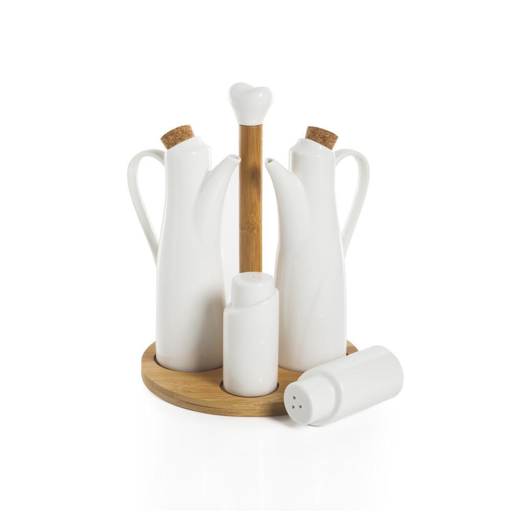 Set 2 fliaš na olej, soľničky, koreničky a podnosu Bambum Perdio