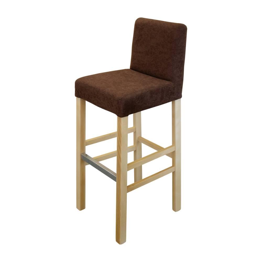 Jedálenská stolička BARI buk/tmavo hnedá