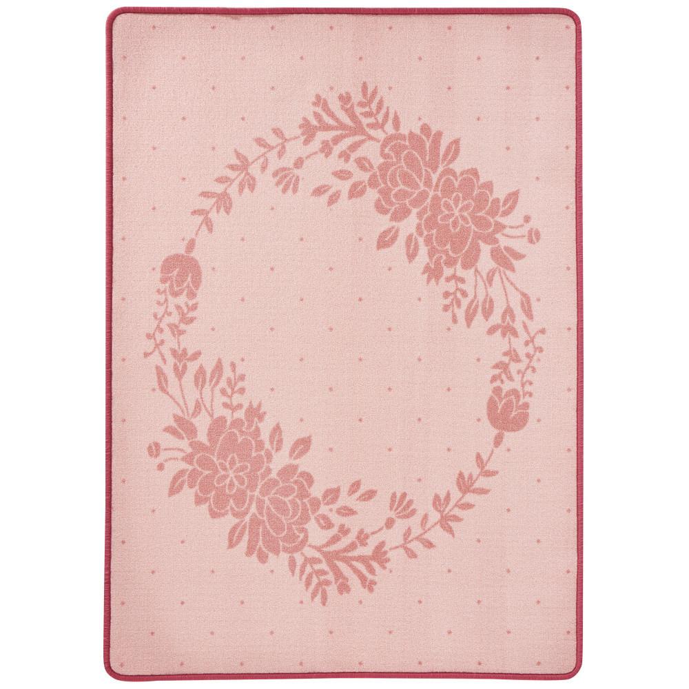 Detský ružový koberec Zala Living Luna Floral, 100x140cm