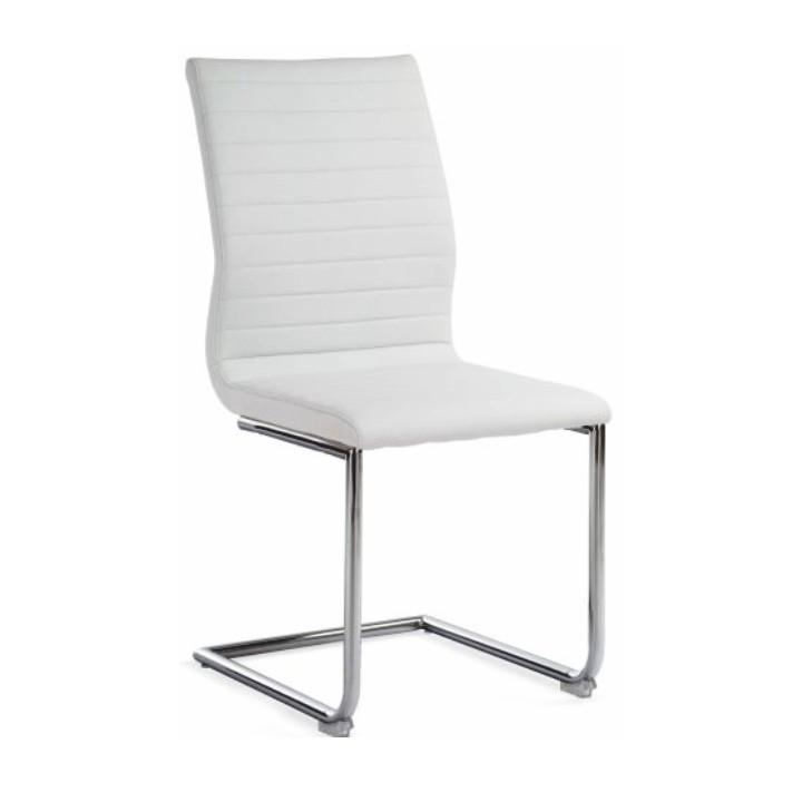 Stolička, ekokoža biela, OTILA