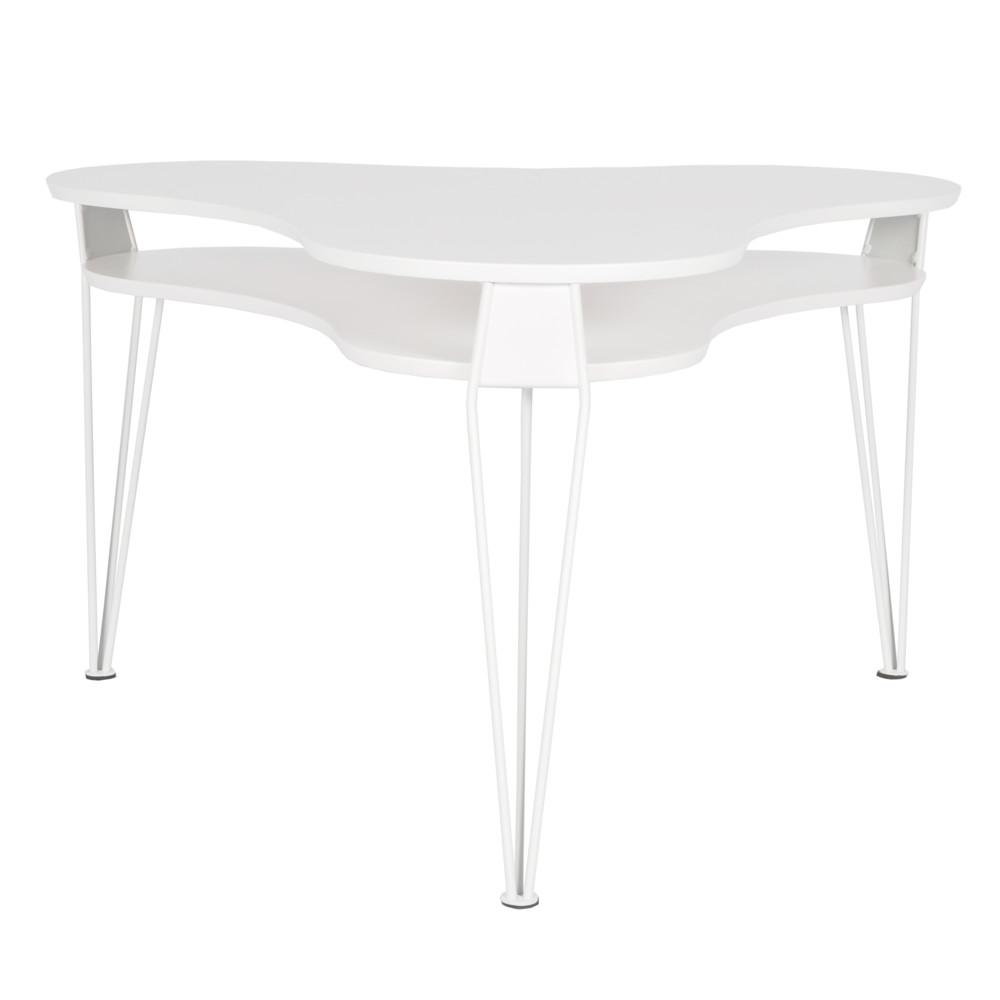 Biely konferenčný stolík s bielymi nohami RGE Esterr, 88 x 83 cm