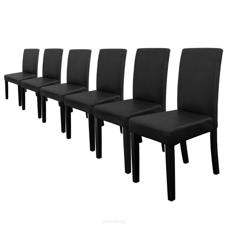 774de83174f1f [en.casa]® Sada 6 ks štýlových čalúnených stoličiek - čierne