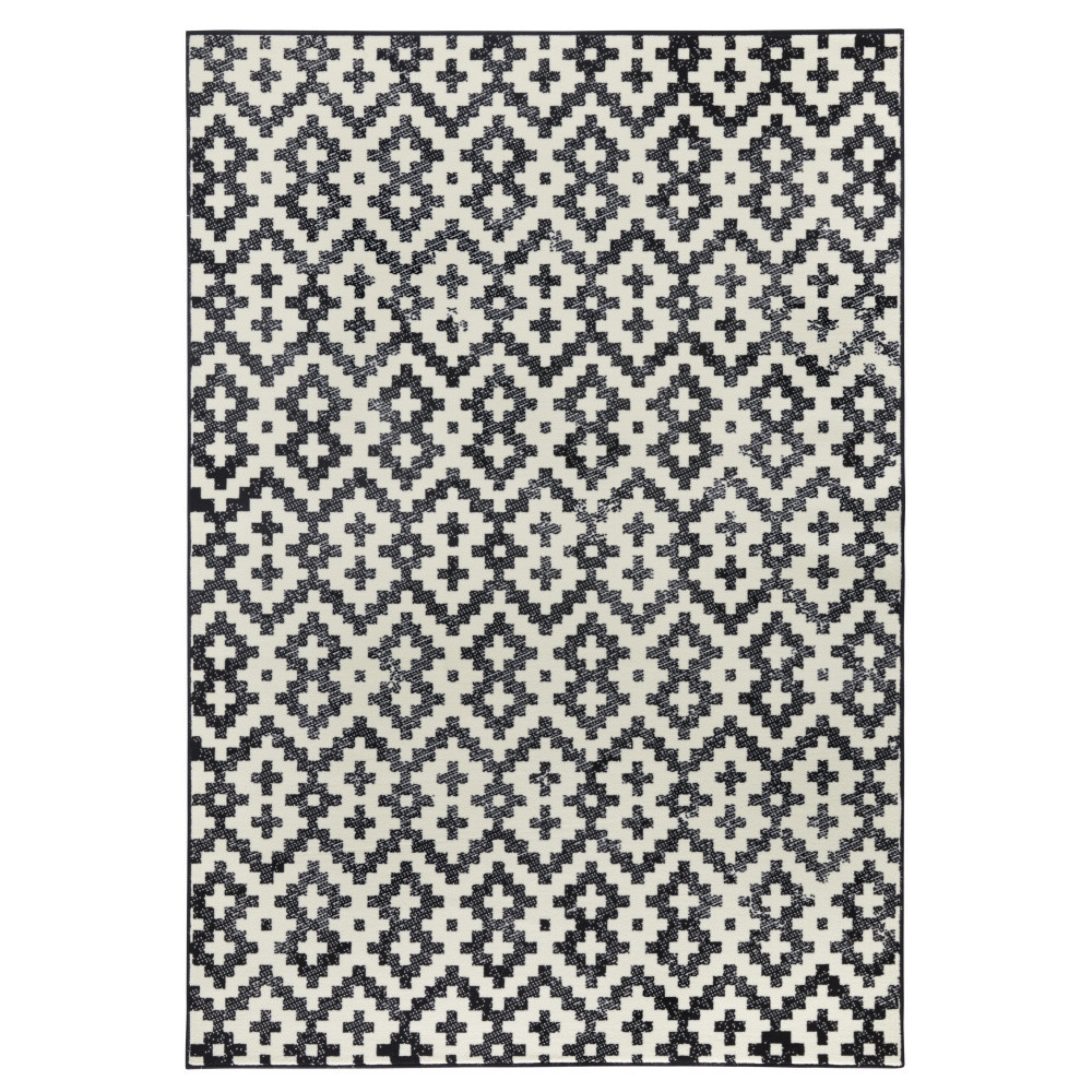 Čierno-biely koberec Hanse Home Duo, 70x140cm