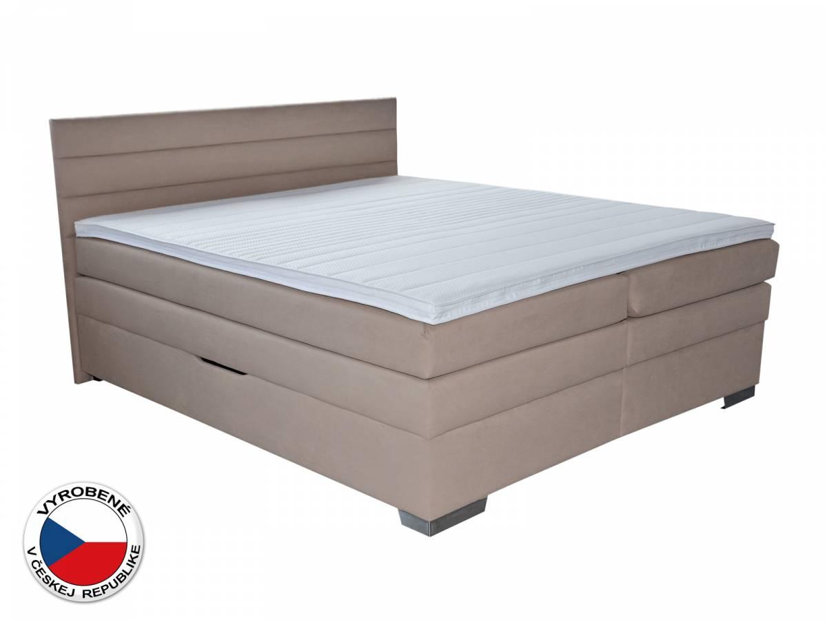 Manželská posteľ Boxspring 180 cm Blanár Twister (béžová) (s roštom a matracmi)