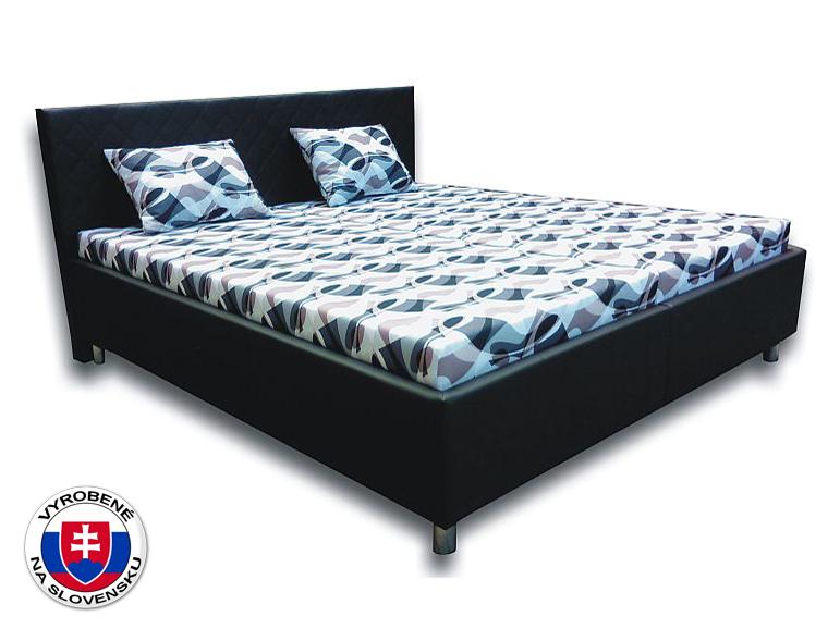 Manželská posteľ 160 cm Leona 2 (s pružinovými matracmi)