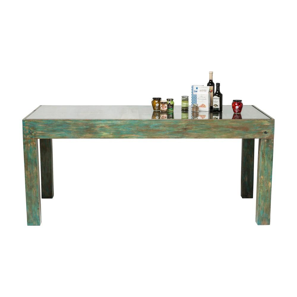 Zelený jedálenský stôl s doskou z mangového dreva Kare Design Surprise, 180 × 90 cm