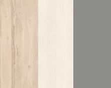 Rohová skriňa BEST 01 / breza / biela LINEA   Farba: breza/biela/sivá