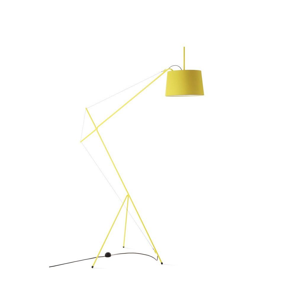 Žltá stojacia lampa z kovu HARTÔ Elisabeth
