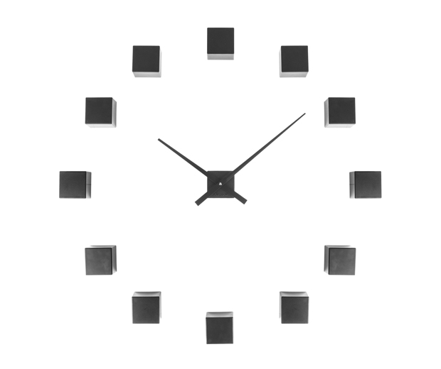 Nástenné hodiny Karlsson KA5698BK Diy Cubic Black