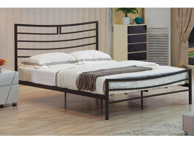 Manželská posteľ 160 cm Dalia (s roštom) (čierna)