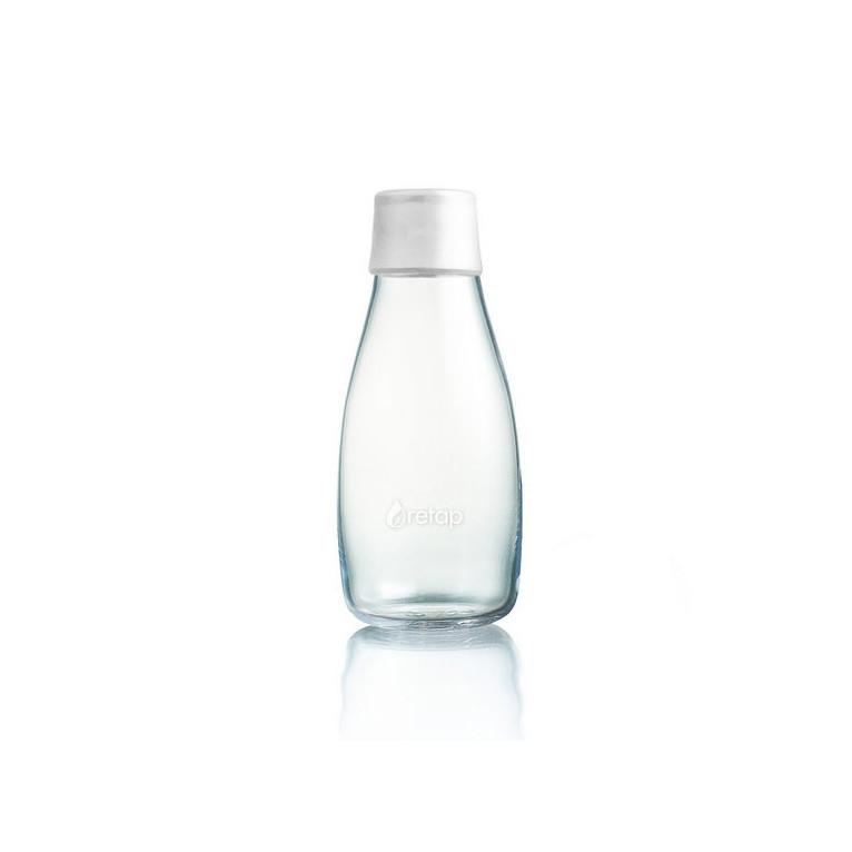 Mliečnobiela sklenená fľaša ReTap s doživotnou zárukou, 300ml