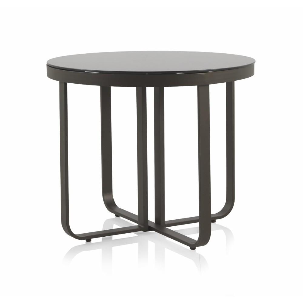 Záhradný jedálenský stôl Geese Onyx, ⌀ 90 cm