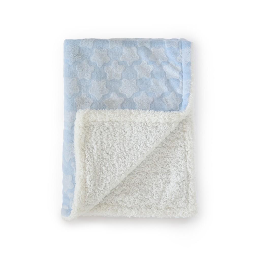 Modrá detská deka Tanuki Estrellas, 80×110cm