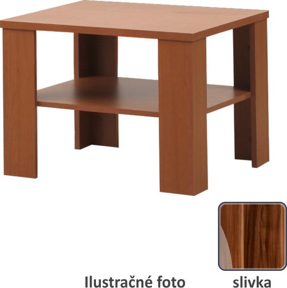 Konferenčný stolík, malý, slivka, INTERSYS 21