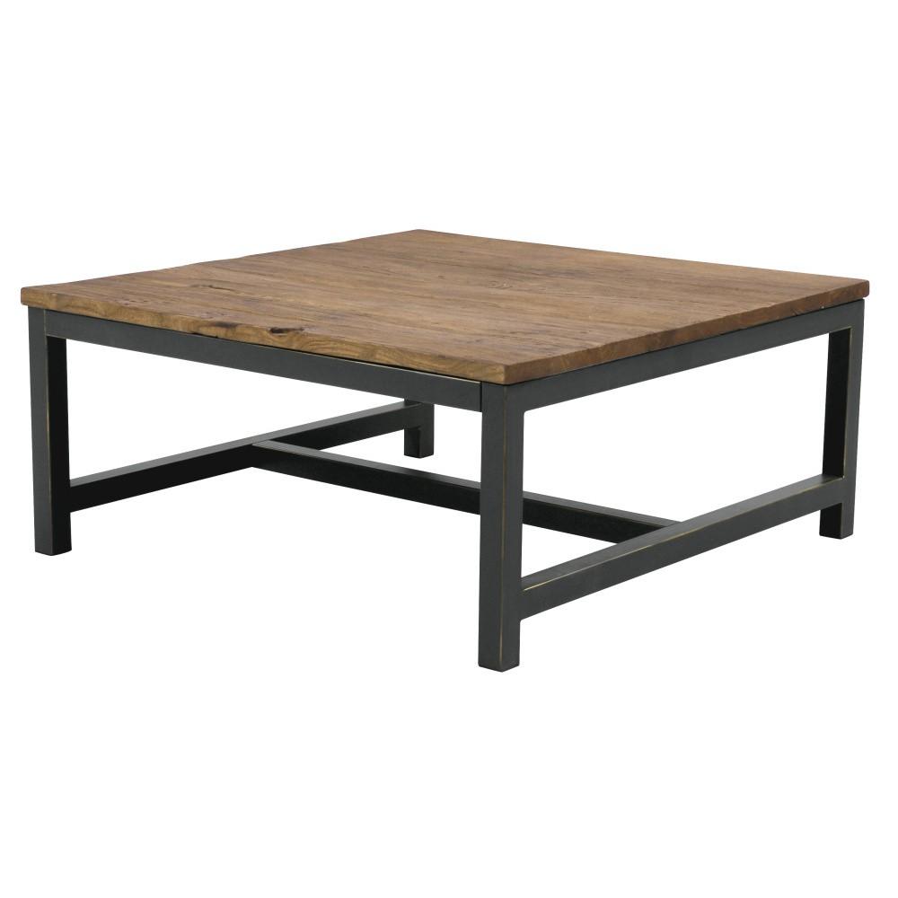 Konferenčný stolík s doskou z brestového dreva Interstil Vintage, 90 × 40 cm