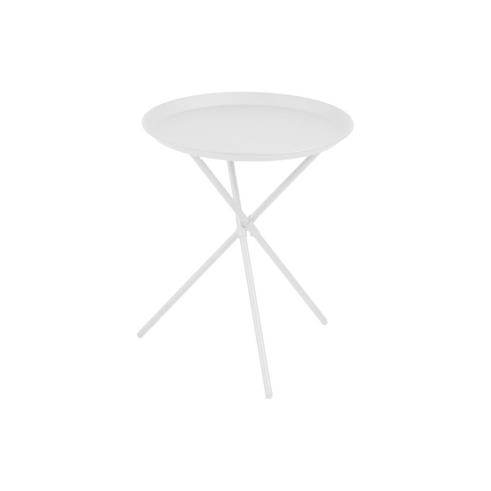 Biely odkladací stolík Actona Clipston