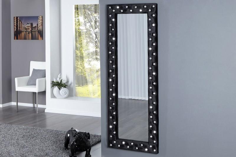 Zrkadlo na stenu BUTIQUE L BLACK - čierna