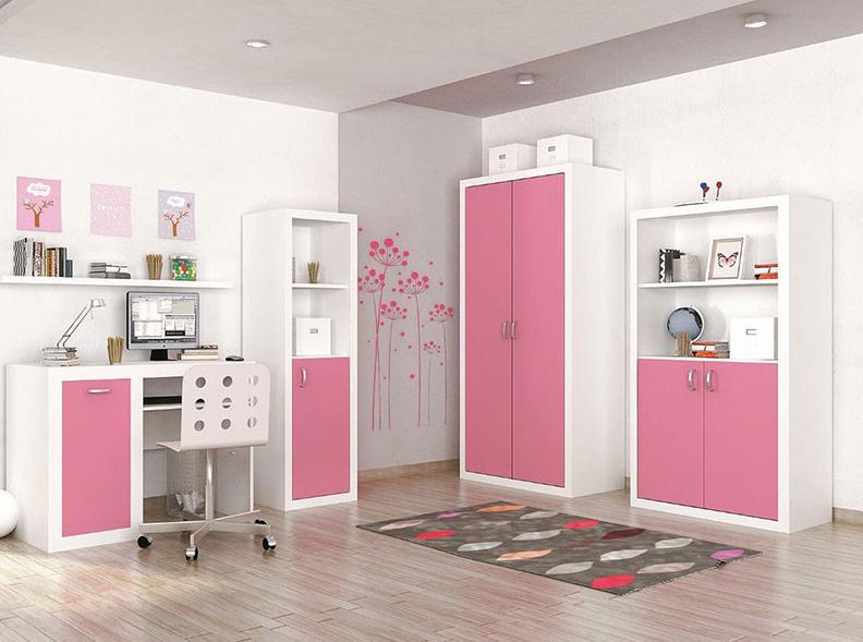 Detská izba FILIP / COLOR   Farba: biela / ružová
