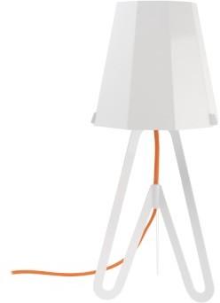 Stolná lamp FLOW biela červený vodič