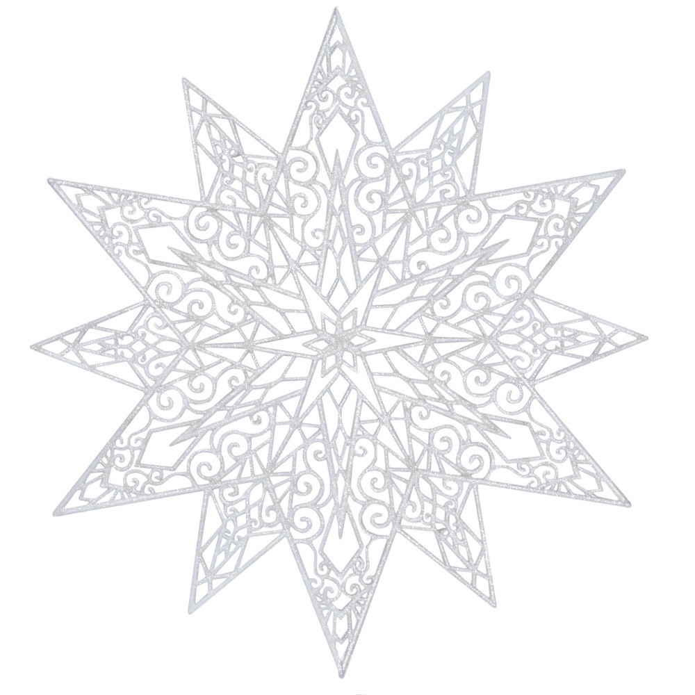Biela závesná dekorácia Ewax Adornada, ⌀ 45 cm