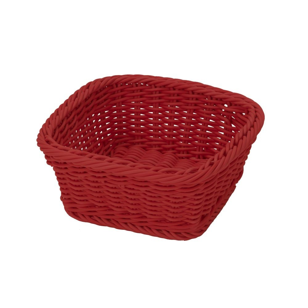 Červený stolový košík Saleen, 19×19 cm