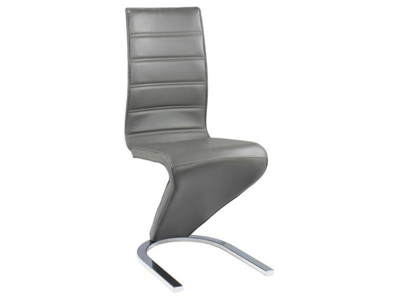 Jedálenská stolička HK-669, šedo-biela