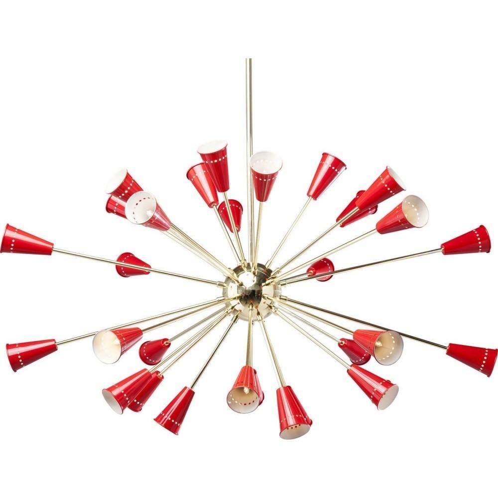 Závesné svietidlo s detailmi v červeno-zlatej farbe Kare Design Atmosphere